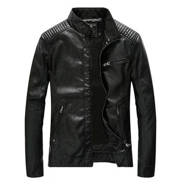 Cool Men's Bomber Motorcycle Leather Jacket Autumn Winter Business Casual Coat Faux Leather Jackets Male Outwear Plus Size 4XL 5XLAT_93_12