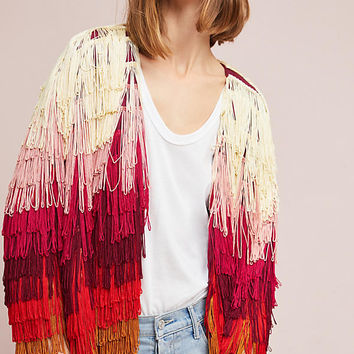 Fringed Long-Sleeve Jacket