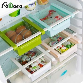 Refrigerator Storage Rack Space Saving Storage Jars Food Fresh Spacer Layer Creative Pull Out Drawer Refrigerator Organizer