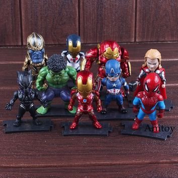 The Avengers Super Hero Thanos Hulkbuster Iron Man Spiderman Hulk Thor Black Panther Captain America Action Figure Marvel Toys
