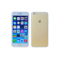 iPhone 6 White Minimalist Hard Shell Protective Case with Clear Frosted Back