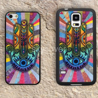 Lucky hand flowers case  iphone 4 4s iphone  5 5s iphone 5c case samsung galaxy s3 s4 case s5 galaxy note2 note3 case cover skin 074