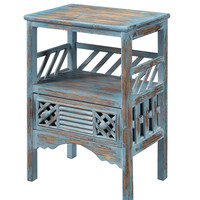 Bali Blue One Drawer Accent Table