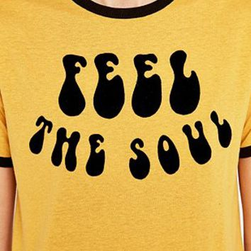 Feel the Soul Ringer Tee - Urban Outfitters