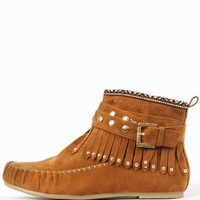 Wild Diva Kalisa-63 Tribal Moccasin Booties | MakeMeChic.com