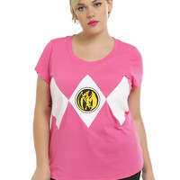Mighty Morphin Power Rangers Pink Ranger Girls T-Shirt Plus Size