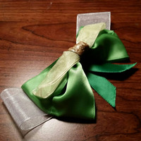 Disney's Tinkerbell inspired handmade hair bow