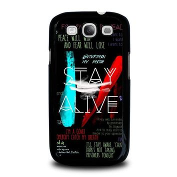 twenty one pilots stay alive samsung galaxy s3 case cover  number 2