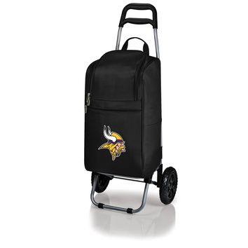 Minnesota Vikings - Cart Cooler with Trolley (Black)