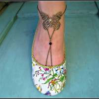 unique butterfly anklet foot piece by alapopjewelry