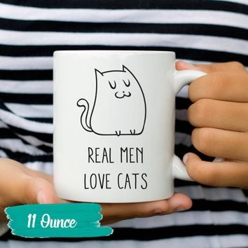 Real Men Love Cats Coffee Cup