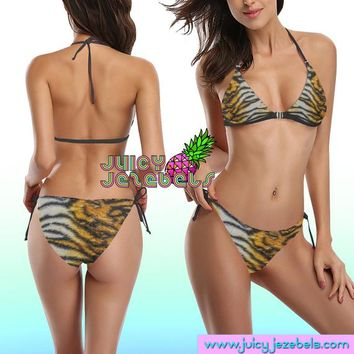 EASY TIGER Ibiza Style Rave Outfit Rave Bra Posing Bikini Top Hippie Clothes Sexy Bikini Rave Wear Cheeky Bikini Two Piece Swimsuit