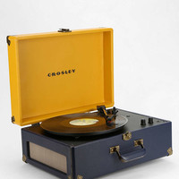 Crosley Keepsake Yellow and Navy Portable Record Player UK Plug - Urban Outfitters