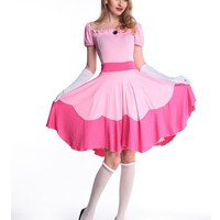 Pink Princess Dress Halloween Women Costume