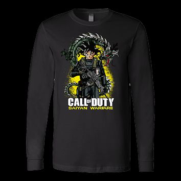 Super Saiyan - Call of duty saiyan warfare - Unisex Long Sleeve T Shirt - TL01335LS