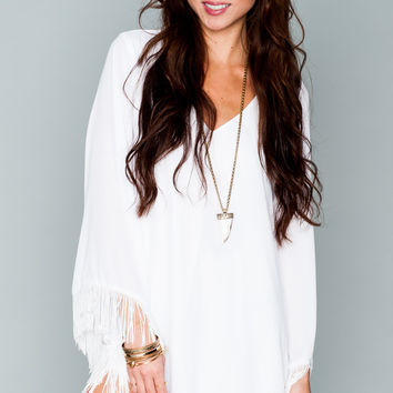 Show Me Your mumu Rodeo Dress ~ White Crisp