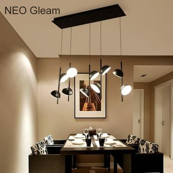 NEO Gleam lampadario moderno Modern Led Pendant Chandelier Lights For Dining Living Kitchen Room Black Color Hanging Lamp