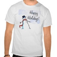 CHRISTMAS HAPPY HOLIDAY APPARREL TEE SHIRTS