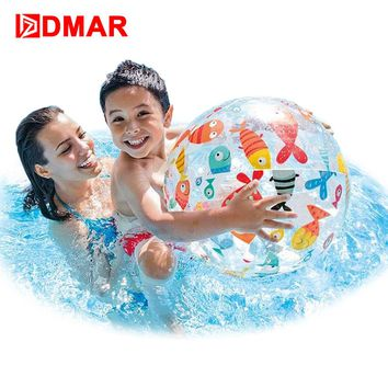 DMAR Inflatable Beach Ball Children Water Toy Beach Toy Swimming Pool Accessory Handball Pool Float Swimming Ring Party