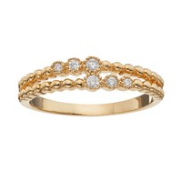 LC Lauren Conrad Double Row Ring (Gold Tone)