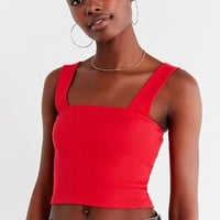 UO Side Lines Square-Neck Tank Top | Urban Outfitters