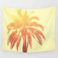 Golden Palm - Wall Tapestry