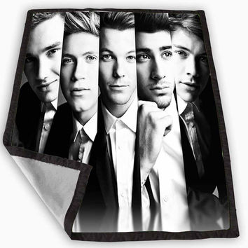 One Direction Collage Black and White Blanket for Kids Blanket, Fleece Blanket Cute and Awesome Blanket for your bedding, Blanket fleece *