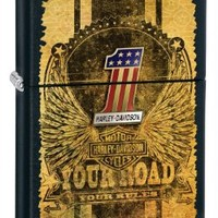 Zippo Harley-Davidson Your Road Black Matte Lighter