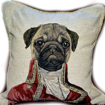 Tache Napoleon Bowaparte Vintage Throw Pillow Cushion Covers
