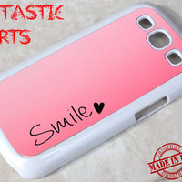 Galaxy S3 Cover, Samsung S3 , Samsung Galaxy S3 Case, Galaxy S3 cover, Galaxy S3 skins, Galaxy S3 Protective Cover, Galaxy S3 - Smile