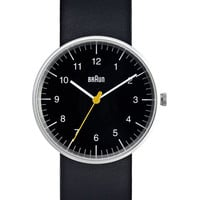 Braun Watch Analog Black by Dietrich Lubs and Dieter Rams