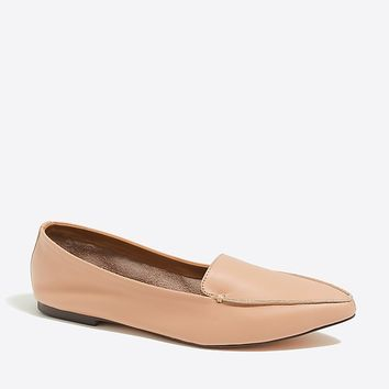 Edie leather loafers : FactoryWomen Flats | Factory