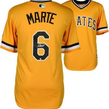 DCCKJNG Starling Marte Signed Autographed Pittsburgh Pirates Baseball Jersey (JSA COA)