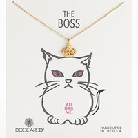 Women's Dogeared 'The Boss' Crown Pendant Necklace (Nordstrom Exclusive)