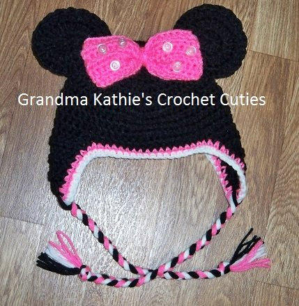 Minnie Mouse Inspired Crochet Hat for from ...
