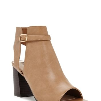 Faux Leather Cutout Booties