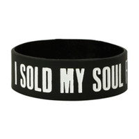 Sold My Soul For Concert Tickets Rubber Bracelet
