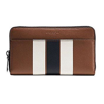 COACH Signature Accordion Zip Around Wallet