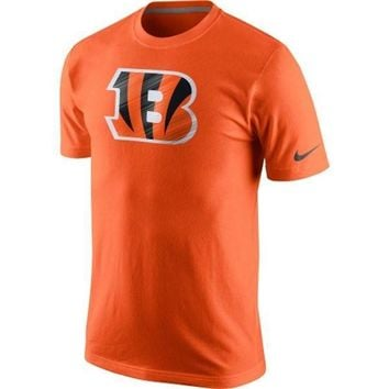 Cincinnati Bengals Nike Fast Logo T-Shirt – Orange