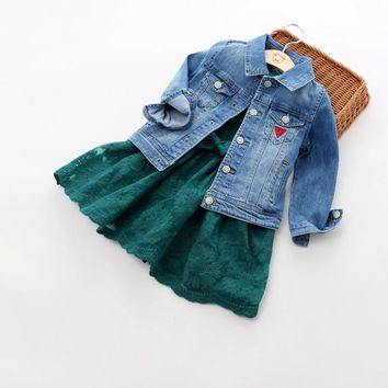 2017 New Arrival Baby Boys Girls Fashion Denim Jacket Kids Denim Outerwear Jacket Coat Child Hight Quality Denim Jacket