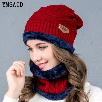 a762d389b47 Balaclava Women s Knitted Hat Scarf Caps Neck Warmer Winter Hats For Men  Women Skullies Beanies Warm