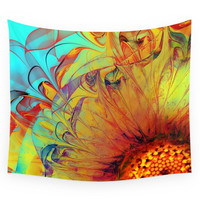 Society6 Sunflower Abstract Wall Tapestry