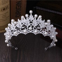 Gorgeous Vintage Crystal Pearl Bridal Crowns Tiaras Wedding
