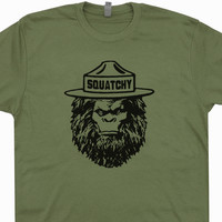 Squatchy Sasquatch T Shirt Smokey The Bear T Shirt