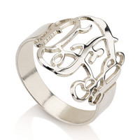Monogram Ring - .925 Sterling Silver