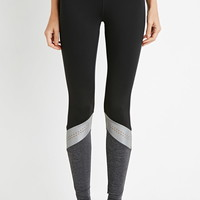 Reflective-Paneled Athletic Leggings