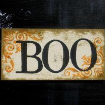 BOO Halloween Sign by bekahjennings on Etsy