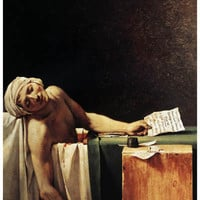 The Death of Marat Jacques-Louis David Art Poster 11x17