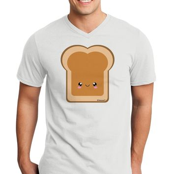 Cute Matching Design - PB and J - Peanut Butter Adult V-Neck T-shirt by TooLoud