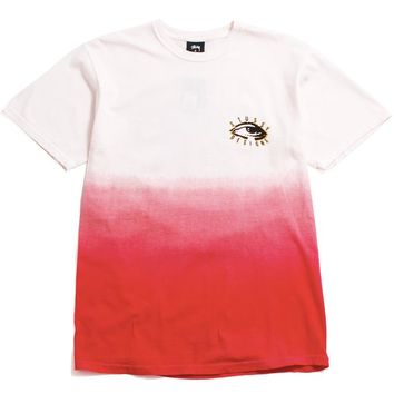 People Tribe Dip Dyed T-Shirt Red